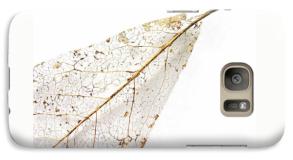 Galaxy Case featuring the photograph Remnant Leaf by Ann Horn