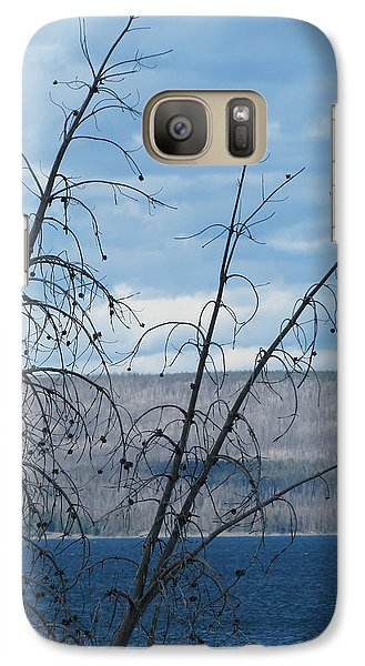 Galaxy Case featuring the photograph Remnants Of The Fire by Laurel Powell