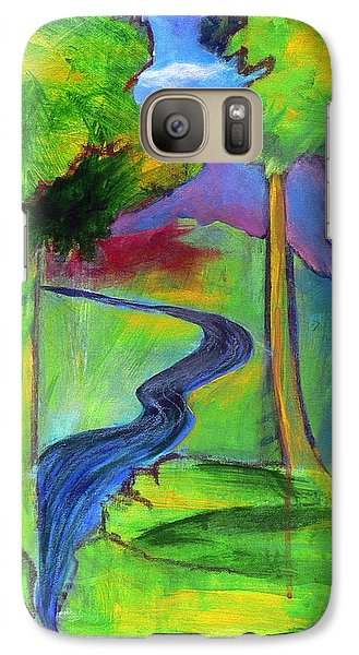Galaxy Case featuring the painting Rendezvous Triptych by Elizabeth Fontaine-Barr