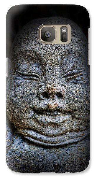 Galaxy Case featuring the photograph Qieci The Fat Budai - Fat Buddha by Lee Dos Santos