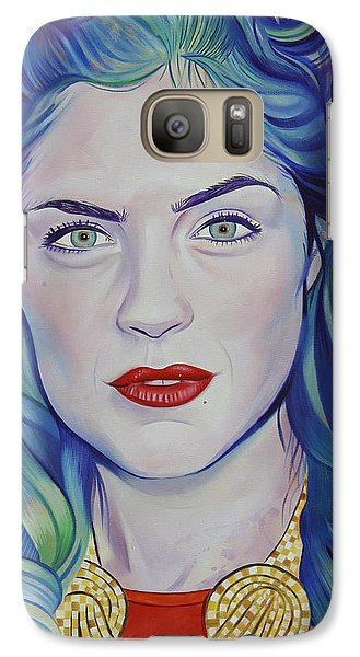 Galaxy Case featuring the painting Rene Taylor by Joshua Morton