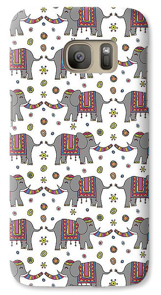Repeat Print - Indian Elephant Galaxy S7 Case by Susan Claire