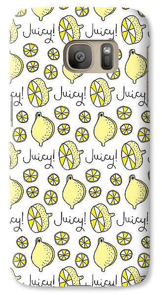 Repeat Prtin - Juicy Lemon Galaxy Case by Susan Claire