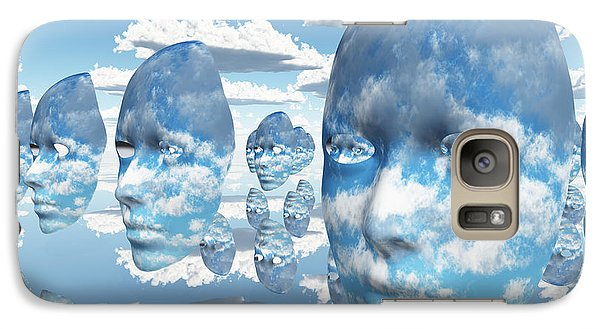 Galaxy Case featuring the digital art Repeating Faces Of Clouds by Bruce Rolff