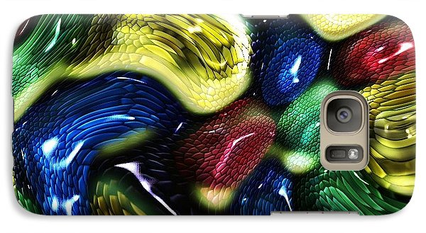 Galaxy Case featuring the digital art Reptile House by Alec Drake