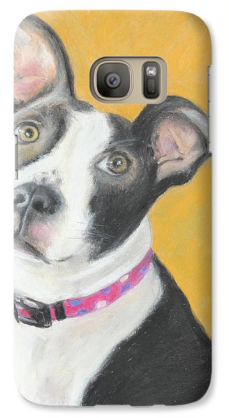 Galaxy Case featuring the painting Rescued Pit Bull by Jeanne Fischer