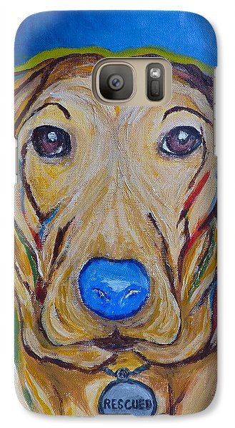Galaxy Case featuring the painting Rescued by Victoria Lakes