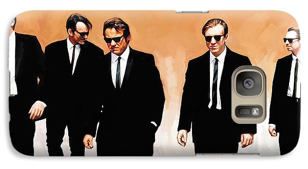 Galaxy Case featuring the painting Reservoir Dogs Movie Artwork 1 by Sheraz A