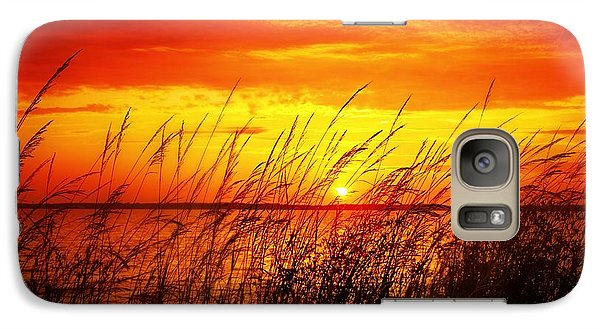 Galaxy Case featuring the photograph Reservoir Sunset 3 by Jim Albritton