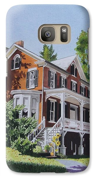 Galaxy Case featuring the mixed media Residence In Sussex County by Constance Drescher