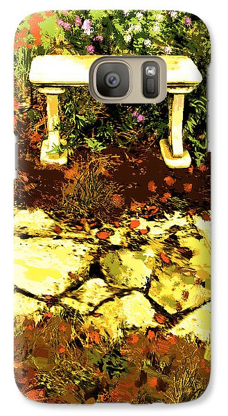 Galaxy Case featuring the photograph Rest Amongst The Flowers by Dale Stillman