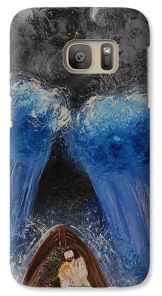 Galaxy Case featuring the painting Rest In Him by Cassie Sears