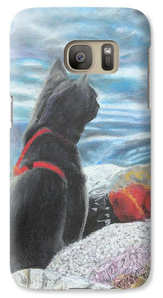 Galaxy Case featuring the painting Resting By The Shore by Jeanne Fischer