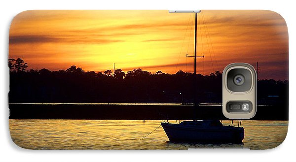 Galaxy Case featuring the photograph Resting In A Mango Sunset by Sandi OReilly