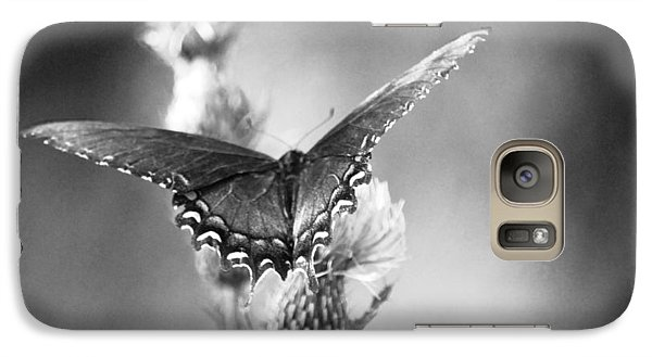 Galaxy Case featuring the photograph Resting In Black And White by Linda Segerson