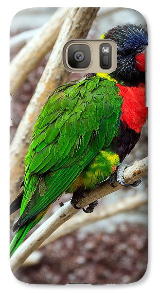 Galaxy Case featuring the photograph Resting Lory by Sennie Pierson