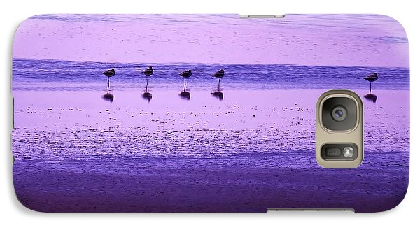 Galaxy Case featuring the photograph Avocets Resting In The Sunset by Michele Penner