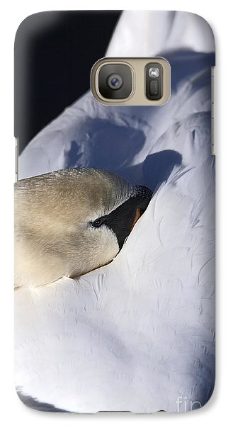 Galaxy Case featuring the photograph Resting Mute Swan by Craig B