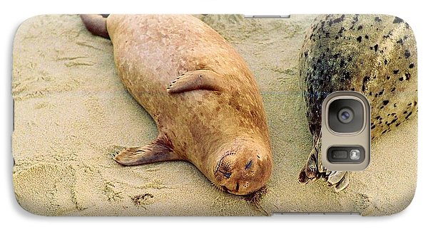 Galaxy Case featuring the photograph Resting Seal by Kathy Bassett