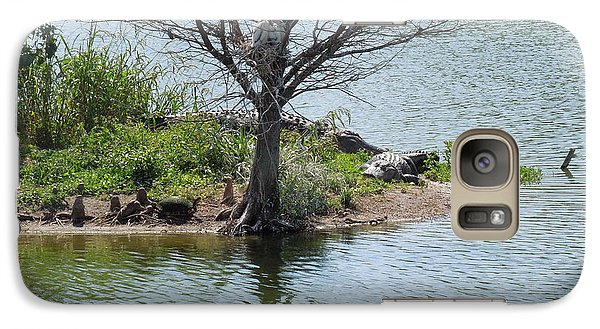 Galaxy Case featuring the photograph Resting Under A Tree by Ron Davidson