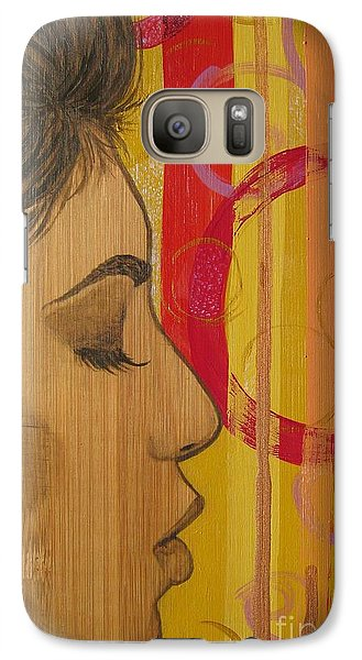 Galaxy Case featuring the mixed media Restless In Wonderment 3 by Malinda  Prudhomme