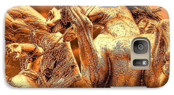 Galaxy Case featuring the photograph Restraining Pegasus by Nigel Fletcher-Jones