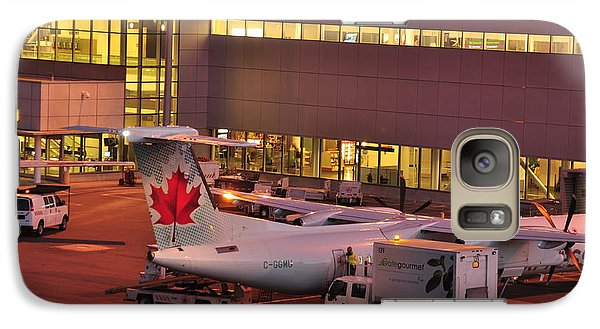 Galaxy Case featuring the photograph resupplying air Canada   by Puzzles Shum