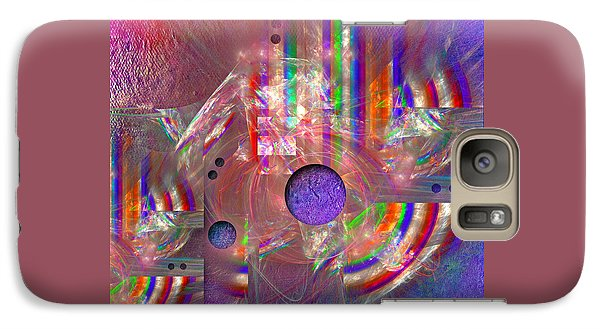 Galaxy Case featuring the digital art Retro by Alexa Szlavics