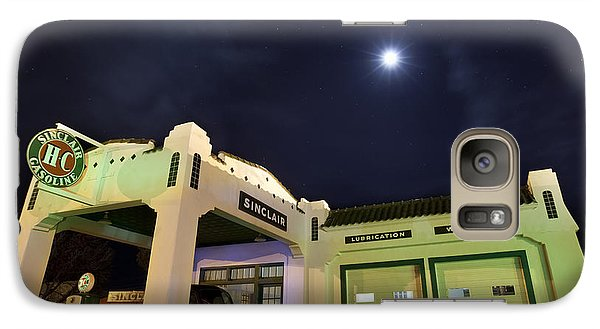 Galaxy Case featuring the photograph Retro Gas Station by Keith Kapple