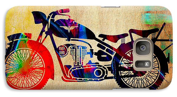Retro Motorcycle Galaxy Case by Marvin Blaine