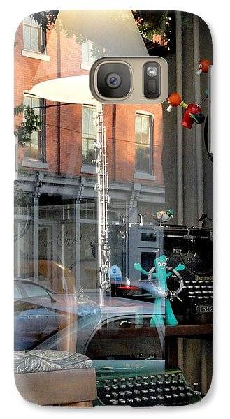 Galaxy Case featuring the photograph Retro Reflection by Mary Beth Landis