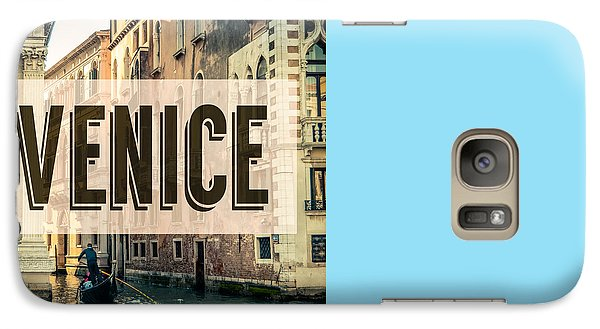 Retro Venice Grand Canal Poster Galaxy Case by Mr Doomits