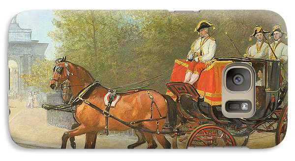 Returning From Her Majestys Drawing Room Galaxy Case by Alfred Corbould