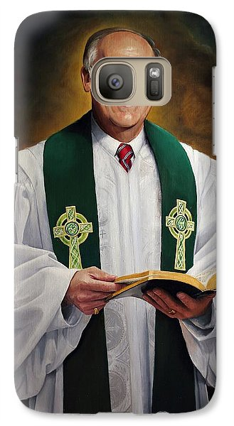 Galaxy Case featuring the painting Rev Fred Hausten by Glenn Beasley