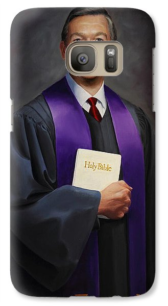 Galaxy Case featuring the painting Rev Jack Wilson by Glenn Beasley