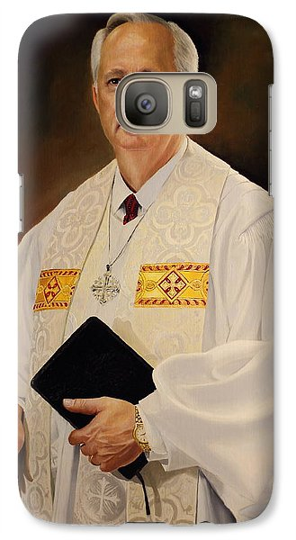 Galaxy Case featuring the painting Rev Sieg Johnson by Glenn Beasley