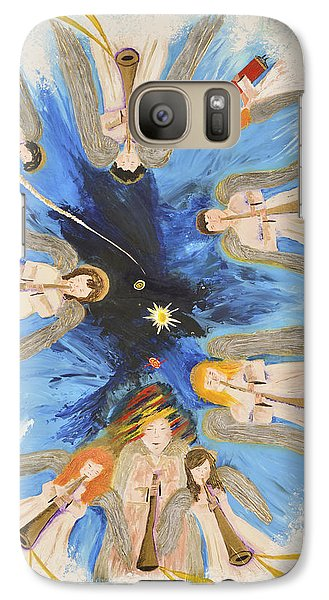 Galaxy Case featuring the painting Revelation 8-11 by Cassie Sears