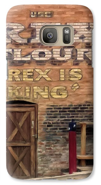 Galaxy Case featuring the painting Rex Is King by Michael Pickett