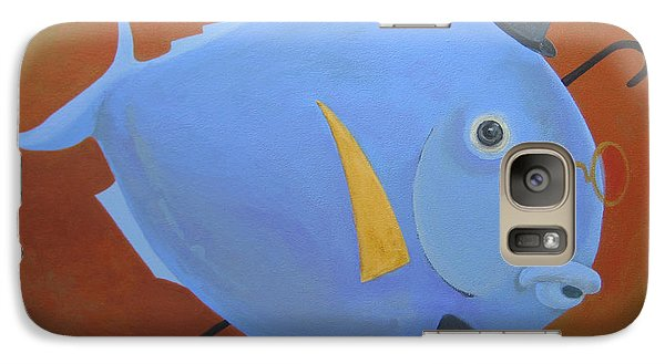 Galaxy Case featuring the painting Rhapsody In Blue by Marina Gnetetsky