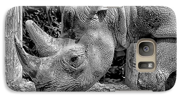Galaxy Case featuring the photograph Rhino Portrait by Beth Akerman