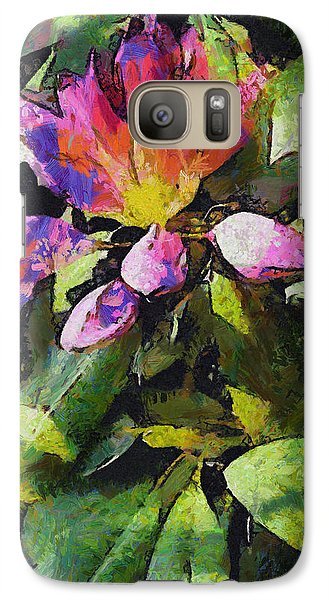 Galaxy Case featuring the digital art Rhododendron Explosion by Spyder Webb