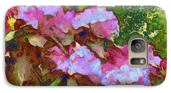 Galaxy Case featuring the digital art Rhododendron Splash by Spyder Webb