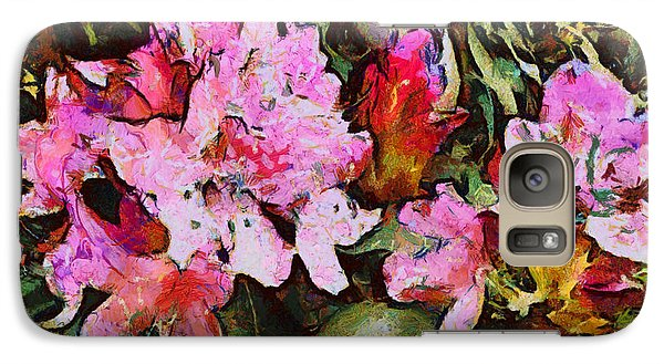 Galaxy Case featuring the digital art Rhododendrons One by Spyder Webb