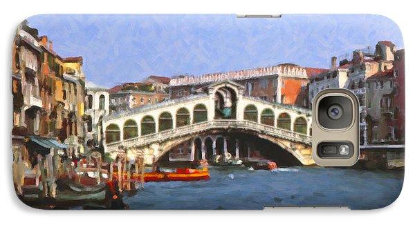 Galaxy Case featuring the digital art Rialto Bridge Venice by Spyder Webb