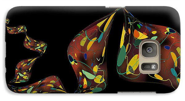 Galaxy Case featuring the digital art Ribbon Bubbles by Constance Krejci