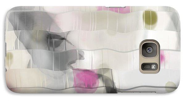 Galaxy Case featuring the digital art Ribbons And Drips by Constance Krejci