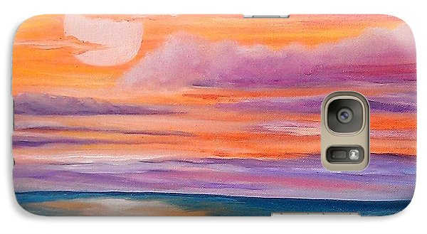 Galaxy Case featuring the painting Ribbons In The Sky by Holly Martinson