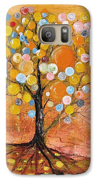 Galaxy Case featuring the painting Rich Tree by Evelina Popilian