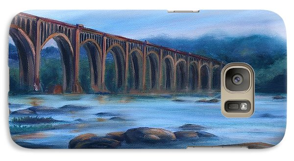 Galaxy Case featuring the painting Richmond Train Trestle by Donna Tuten