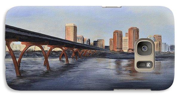 Galaxy Case featuring the painting Richmond Virginia Skyline by Donna Tuten
